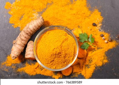 curcuma, powder and root