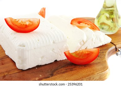 curd white cheese and vegetables
