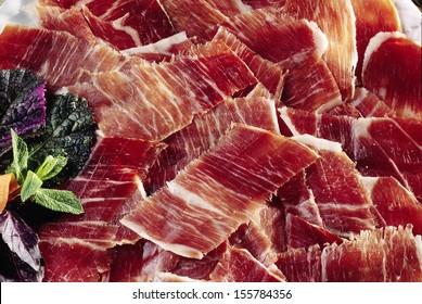 cured spanish pata negra ham
