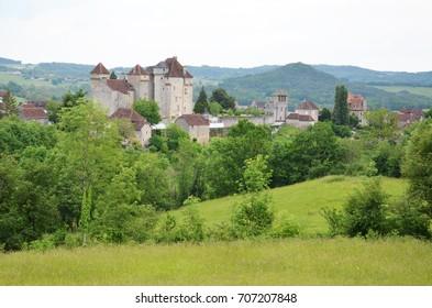 Curemonte medieval village in Corrèze department in central France