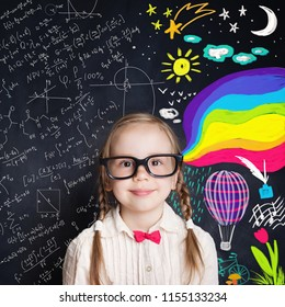 Curious child opens a wonderful world of knowledge. Creativity education and happy childhood concept. New life, new opportunities