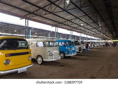 Curitiba, Paraná, Brazil; 09/02/2018 Curitiba National day of the Kombi Volkswagen.