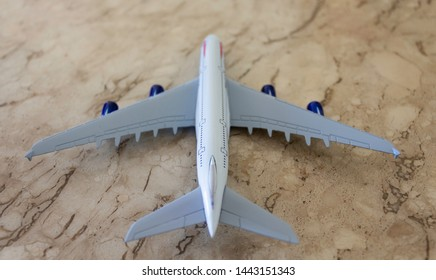 Curitiba, Paraná, Brazil - July 05, 2019:  			thumbnail of a British Airways Airbus 380 aircraft.