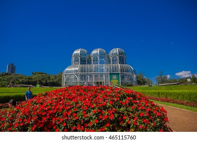 curitiba brazil may 12 2016 nice view of the greenhouse it