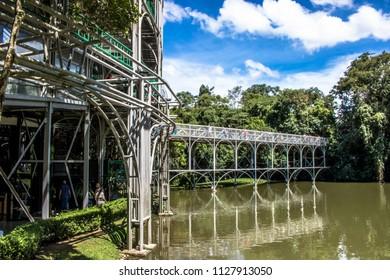 Curitiba, Parana, Brazil, January 01, 2018. People in Opera de Arame Theater in Curitiba city, south of Brazil