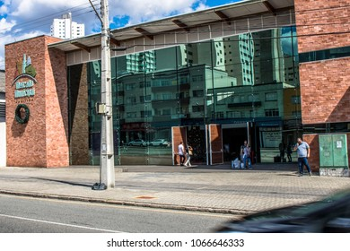 Curitiba, PR, Brazil, January 03, 2018. Facade of the Municipal Market of Curitiba, in the central region of the capital of the state of Parana.