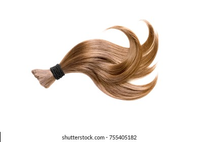 Curl of natural hair on a white background