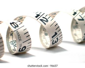Curled tape measure