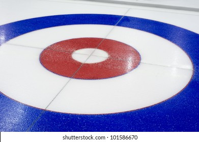Curling background in the sports center
