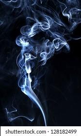Curling smoke