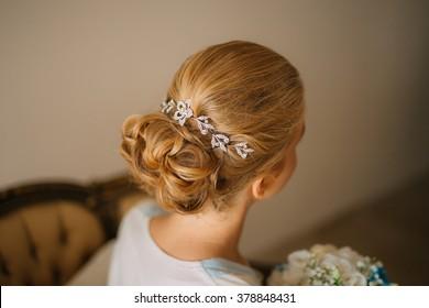 Curls girl closeup