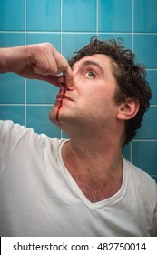 Nose bleed images stock photos vectors shutterstock for Bleeding when going to the bathroom