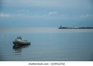 The Curonian lagoon, poselok Rybachiy, Russia