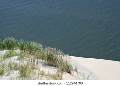 Curonian Spit, the dunes on the shore of Curonian Lagoon