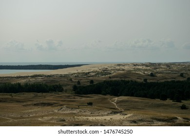 The Curonian Spit is home to the highest moving (drifting) sand dunes in Europe. It separates the Curonian Lagoon from the Baltic Sea coast.