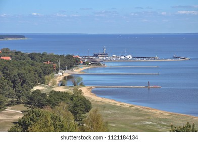 Curonian Spit in Lithuania. Panorama of Nida - resort town in Lithuania. Neringa