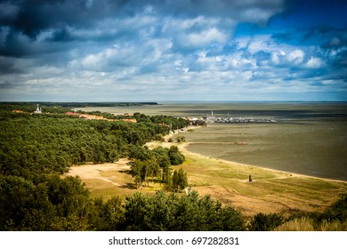 Curonian Spit National Park in Lithuania. Nida resort