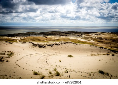 Curonian Spit National Park in Lithuania. Dunes