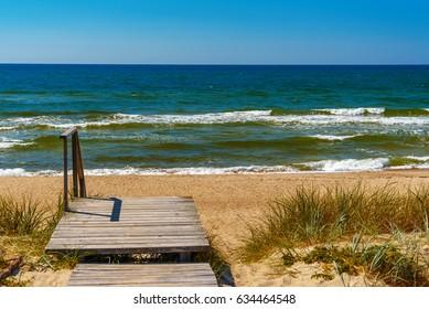 Curonian Spit. Nida, Lithuania, European Union . Coast of the Baltic Sea
