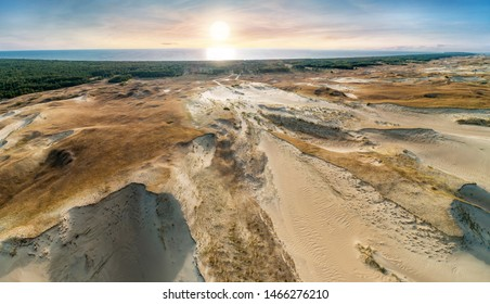 The Curonian Spit. Nida, Neringa, Lithuania. Gray Dunes, Dead Dunes. The Curonian Lagoon.