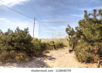 CURONIAN SPIT, RUSSIA - May 02.2018: The Curonian Spit National Park. Ornithological station of Fringilla. Bird Trap