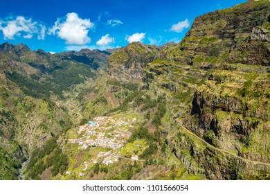 Curral das Freiras village in Nuns Valley, Madeira, Portugal