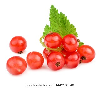 Currant berries isolated on white background.