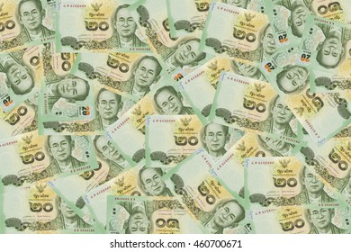 Currency 20 bath money of thailand background