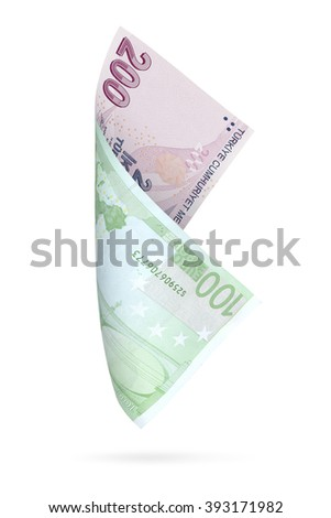 Currency Conversion Two Hundred Turkish Lira Stock Photo Edit Now