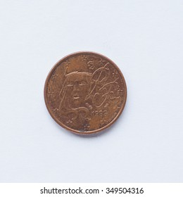 Currency of Europe 1 cent coin from France
