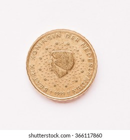Currency of Europe 10 cent coin from Netherlands vintage