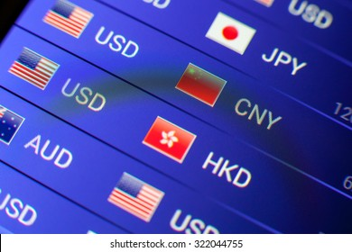 currency exchange concept. usd/cny rate