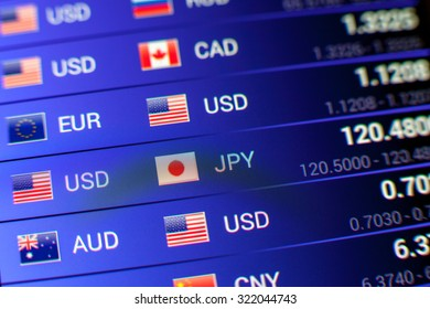 currency exchange concept. usd/jpy rate