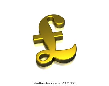 Currency in a gold metal style with reflection
