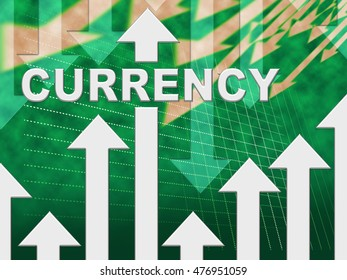 Currency Graph Indicating Fx Trading And Exchange