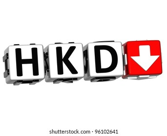Currency HKD rate concept symbol button on white background