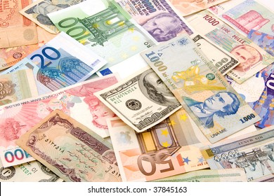currency in the manner of financial background