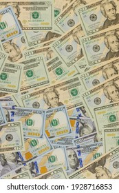 Currency many cash US dollars American bills