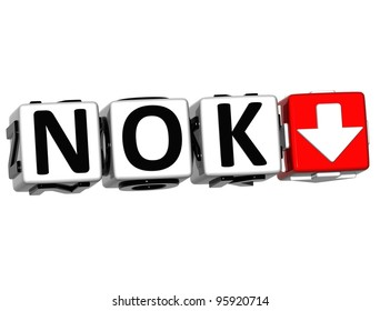 Currency NOK rate concept symbol button on white background