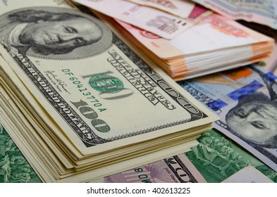 Currency speculation Russian ruble US dollar.
