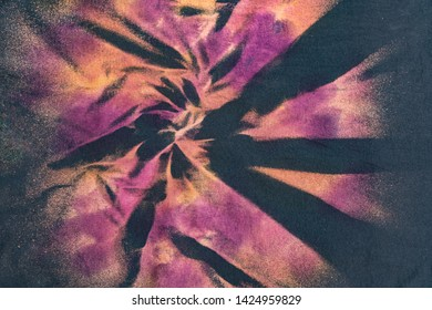 Current Fashion Trending Colorful Bleach Fabric Abstract Tie Dye Swirl Design