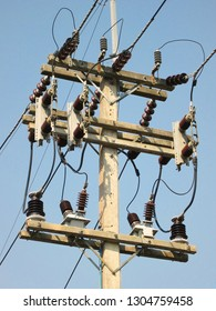 Current Transformer(CT) and Potential Transformer(PT) or Instrument Transformer on the pole. Apparatus to reduce the amount of current or voltage to be suitable for entering the instrument.