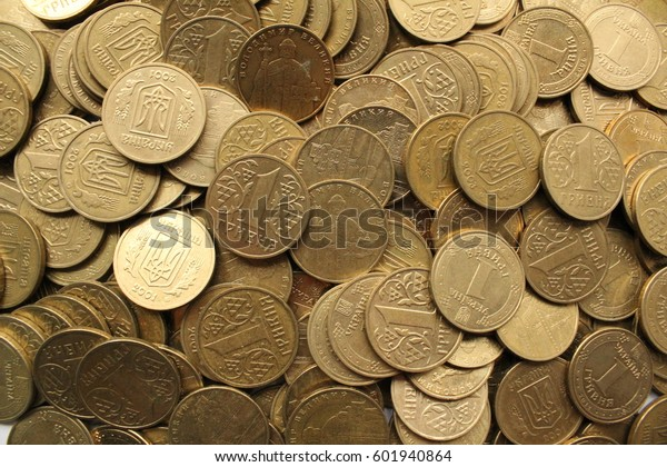 Current Ukrainian Coins Face Value One Stock Photo (Edit Now