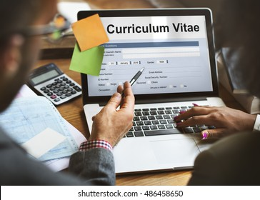 Curriculum Vitae Biography Form Concept
