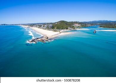 Currumbin beach aerial