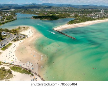 Currumbin and Palm Beach from the air.