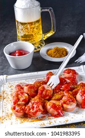 curry bockwurst with beer