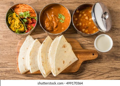 Curry and chapati of India