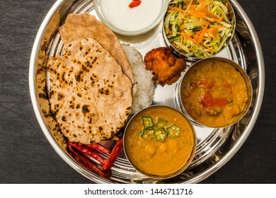 Curry and Chapati typical Indian food