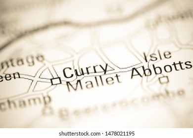 Curry Mallet. United Kingdom on a geography map